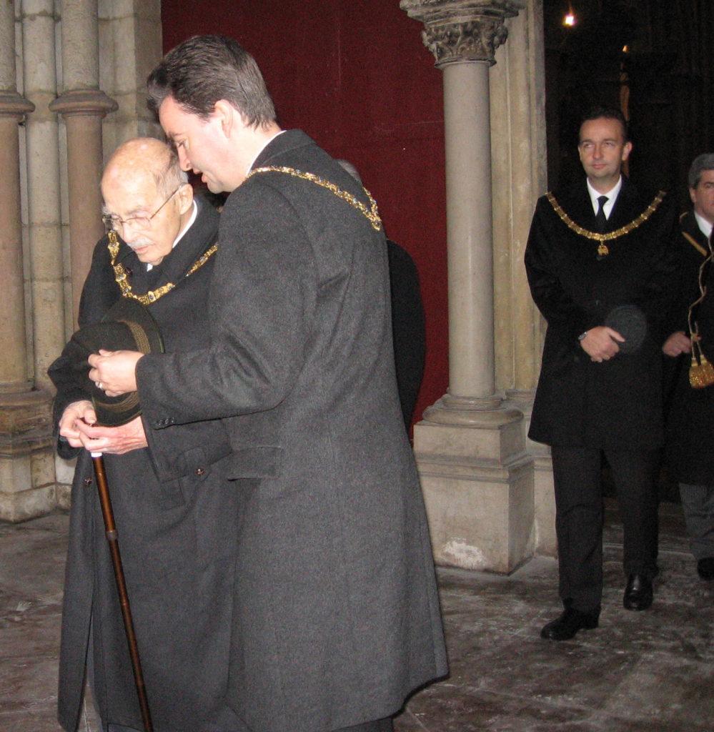 Cliché JMD. Otto de Habsbourg. Eglise Notre Dame de Dijon.Chapitre de la toison d'or 2007
